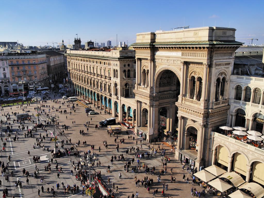 Milão na Itália